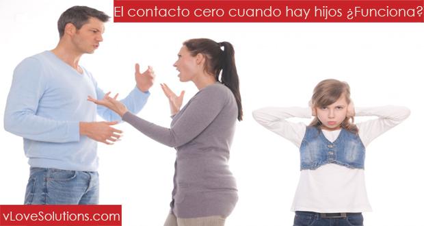 El contacto cero cuando hay hijos